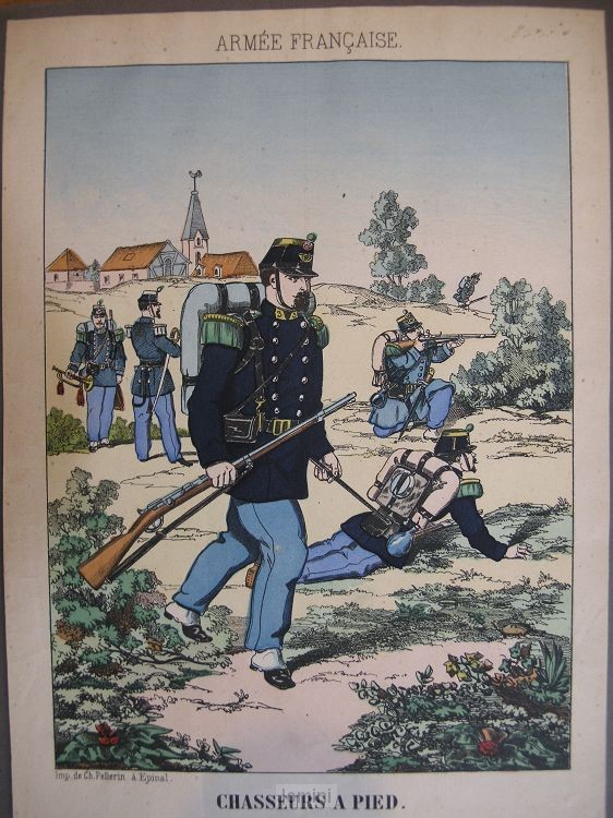 Prent Chasseurs a pied (Armee Francaise)