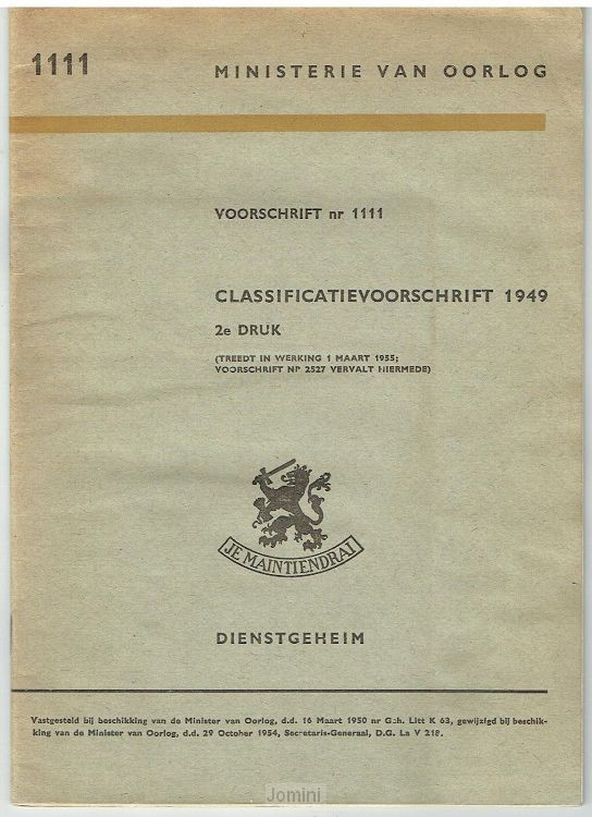 Classificatievoorschrift nr. 1111