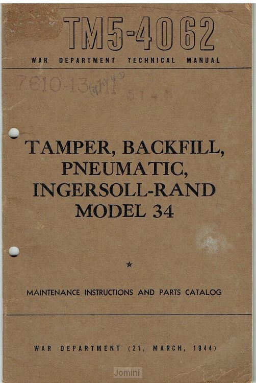 TM 5-4062 Tamper, backfill