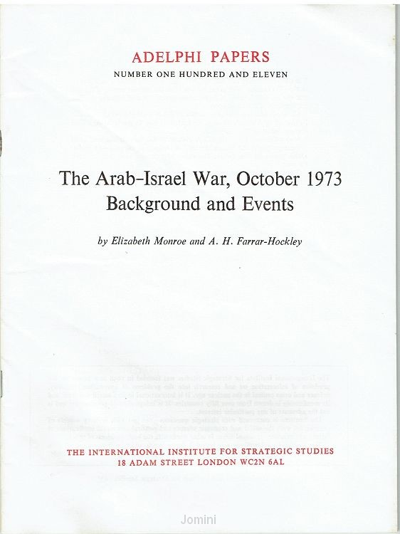 The Arab-Israel war, October 1973