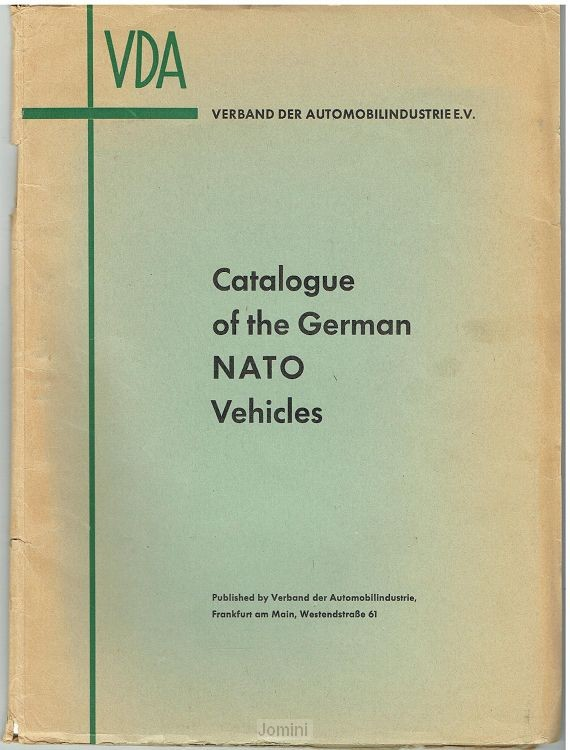 Catalogue of the German NATO vehicles