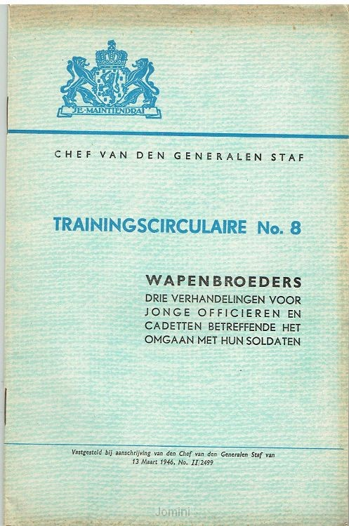 Trainingscirculaire No.8 wapenbroeders