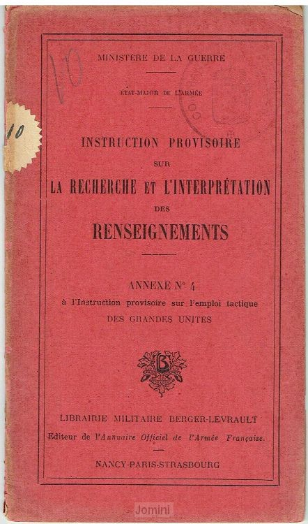Instruction Provisoire renseignements