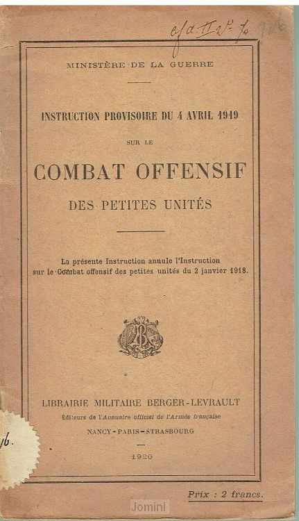 Instruction Provisoire Combat offensif