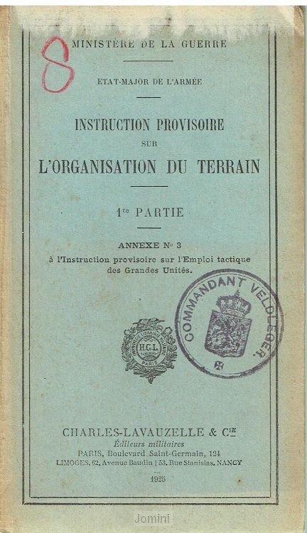 Instruction provisoire sur l'organsation