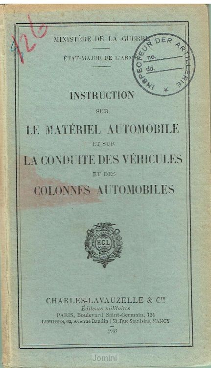 Instruction sur le materiel automobil