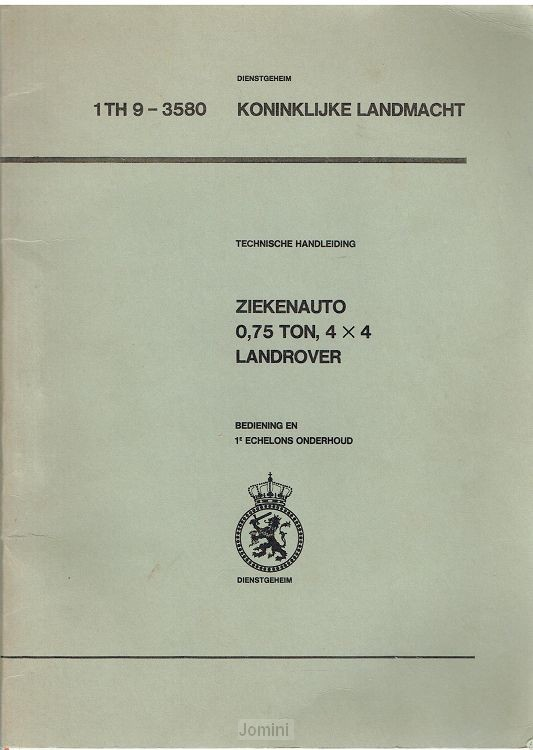 1 TH 9-3580 Land Rover ziekenauto