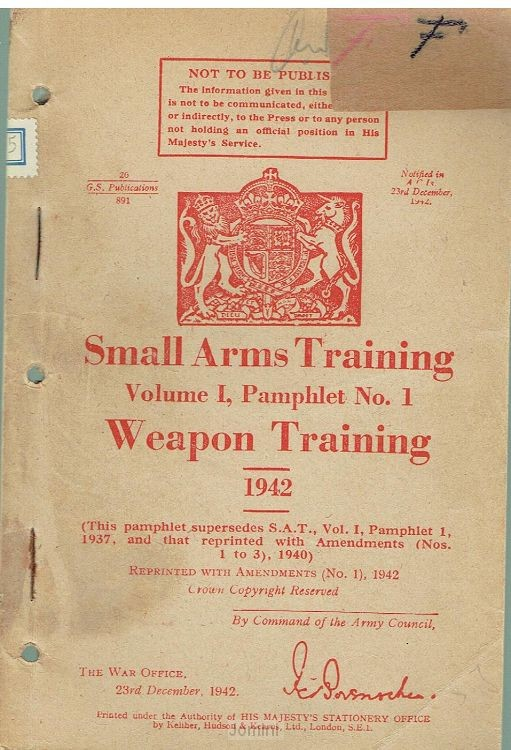 Small arms training (weapon training)