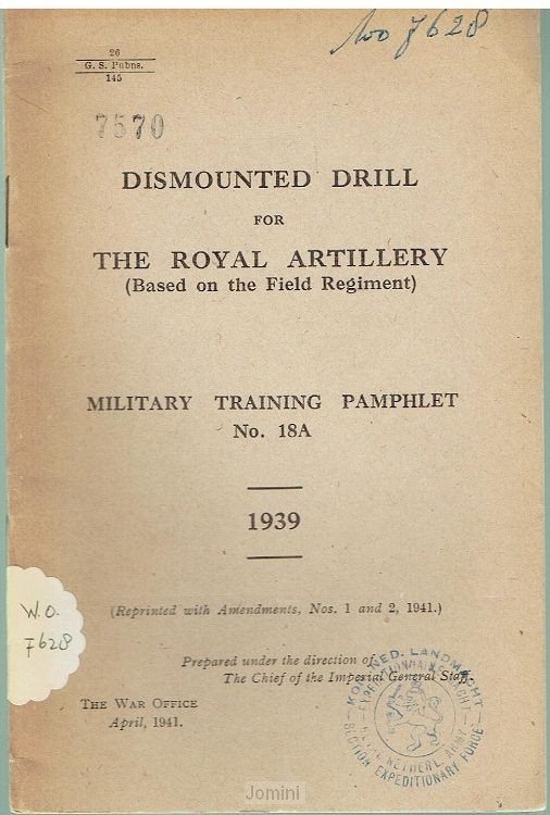 Dismounted drill for the Royal Artillery