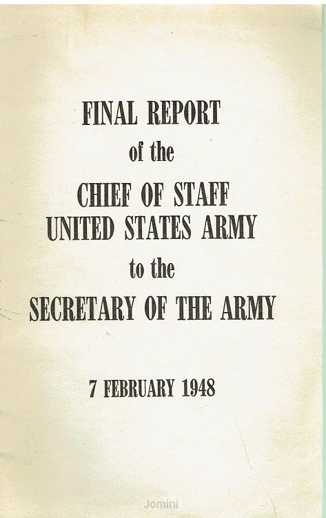 Final report of the Chief of staff