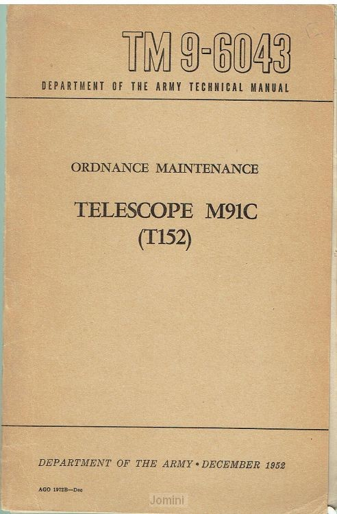 TM 9-6043 Telescopes M91C