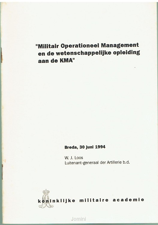 ''Militair Operationeel Management...''